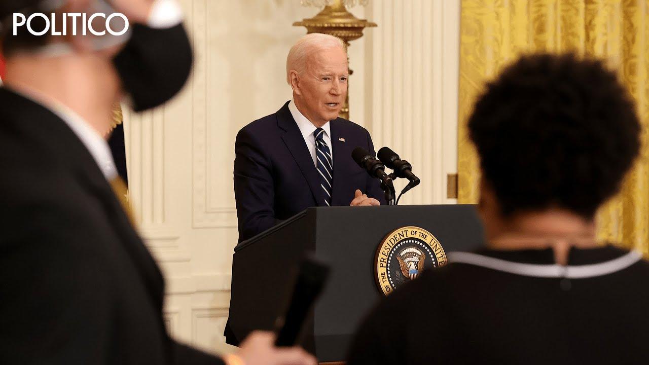 Biden grilled on eliminating filibuster, dodges reporters