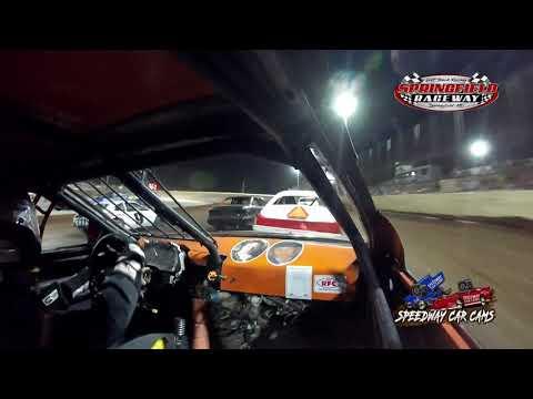 #93 Daniel Barton - Mini Stock - 8-14-2021 Springfield Raceway - In Car Camera - dirt track racing video image
