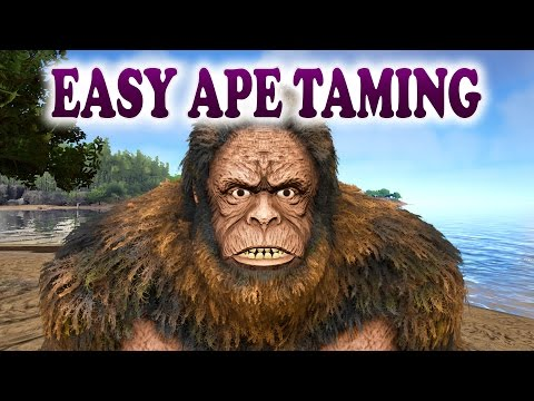 ARK | EASY GIGANTOPITHECUS TAMING | How To Tame a