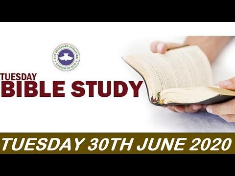 RCCG JUNE 30TH 2020 BIBLE STUDY