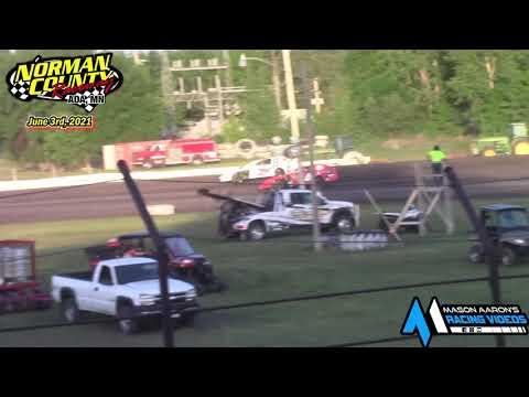 Norman County Raceway IMCA Sport Mod A-Main (6/3/21) - dirt track racing video image