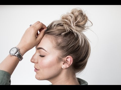 How To Perfect Extra Af Messy Bun Top Knot Thin Fine Hair