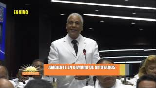 Proceso antes de juramentar de Radhamés Camacho como presidente de la cámara de diputados