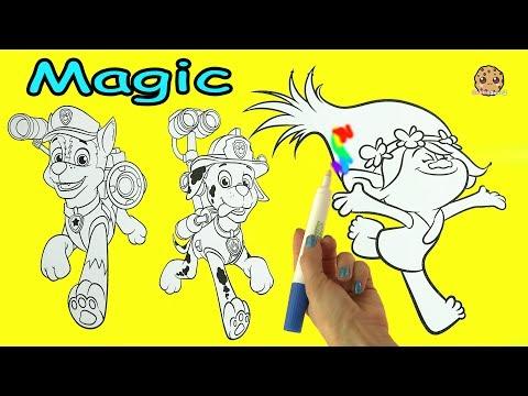 Magic Ink Rainbow Color Pen Surprise Picture Coloring Dreamworks Trolls + Paw Patrol - UCelMeixAOTs2OQAAi9wU8-g