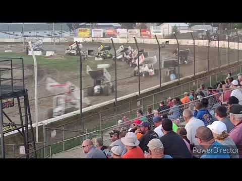 FASTonDIRT Sprint Cars A-Main - Fremont Speedway - 7-31-2021 - dirt track racing video image