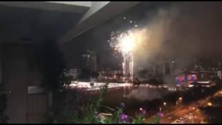 Fireworks at National Day heartlands celebration in Bishan