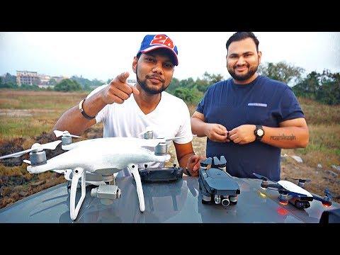DJI DRONES IN INDIA   Comparison on Budget and Video Quality   Dji Phantom 4 vs mavic vs spark  