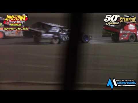 Jamestown Speedway IMCA Sport Mod A-Main (50th Jamestown Stock Car Stampede) (9/25/21) - dirt track racing video image
