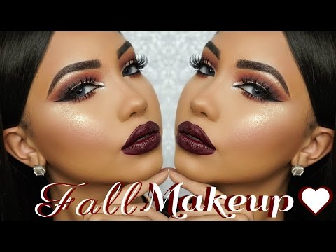 Fall Dark Burgundy Makeup Tutorial - UCVnLzaBUtkW3k-N2UPESZyA
