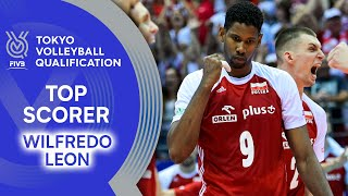 Wilfredo Leon finishes the points off! | Top Scorer | Volleyball Olympic Qualification 2019