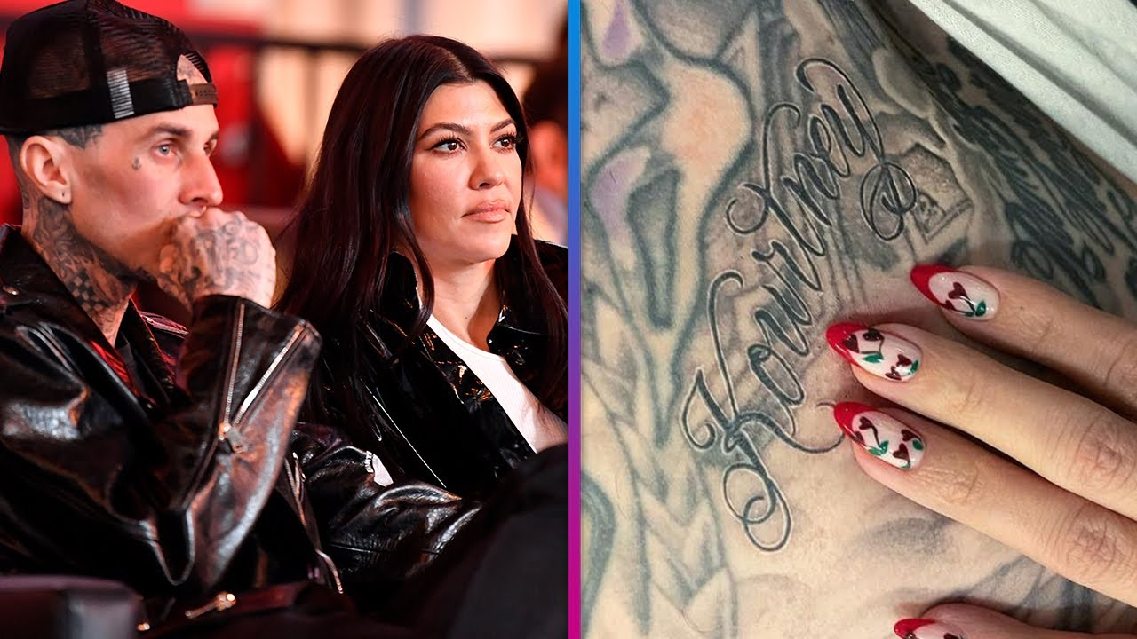 Travis Barker Gets Kourtney Kardashian's Name TATTOOED On Him!