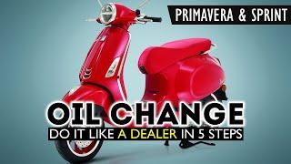 Cambio olio PIAGGIO VESPA 125 Sprint-Primavera