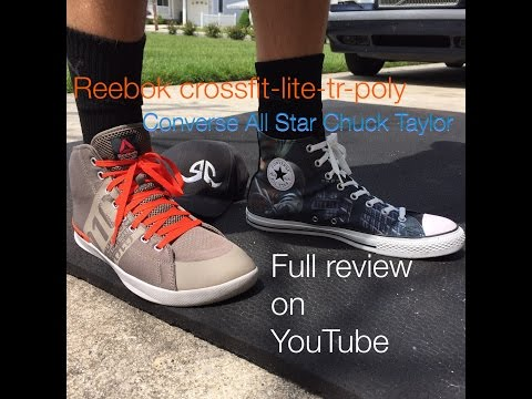 e483570408c3ae Reebok Crossfit Lite Tr Poly vs. Converse Chuck Taylor® All Star® shoes for  powerlifting review