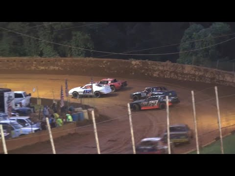 Stock V8 at Winder Barrow Speedway July 3rd 2021 - dirt track racing video image