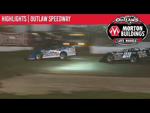 World of Outlaws Morton Buildings Late Model Series Feature Event Highlights from Outlaw Speedway in Dundee, New York on September 20th, 2019. To view the full race, visit DIRTVision.com. - dirt track racing video image