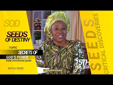 Dr. Becky Paul-Enenche - SEEDS OF DESTINY - FRIDAY 15TH FEBRUARY, 2020