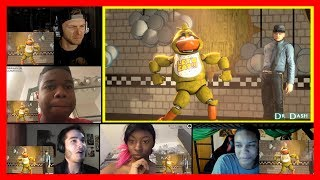 [FNAF/SFM] The duck suck - family friendly funny happy time REACTION MASHUP