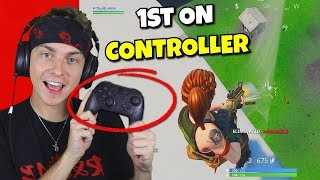 i won my 1st fortnite game on the switch... (1st time on controller)