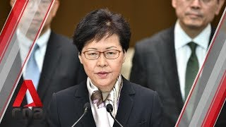 Hong Kong leader Carrie Lam calls for calm amid city wide strike