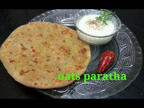 Oats paratha-healthy oats paratha recipe-richa's recipe-vegetarian rasoi