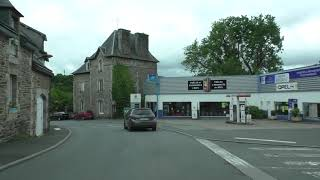 Driving Around 22160 Callac, Côtes d'Armor, Brittany, France 30th May 2019