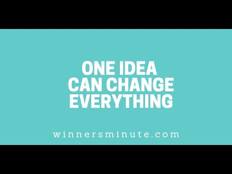 One Idea Can Change Everything // The Winner's Minute With Mac Hammond