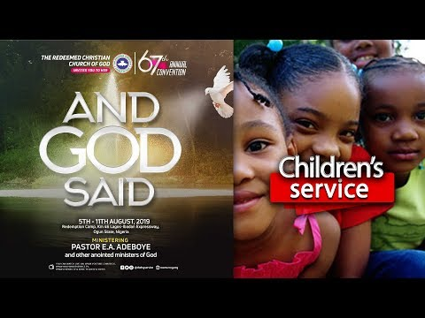 DAY 6 RCCG HOLY GHOST CONVENTION 2019 - CHILDREN'S HOUR
