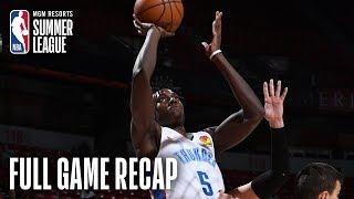CROATIA vs THUNDER | OKC RALLIES LATE FOR COMEBACK WIN | MGM Resorts NBA Summer League