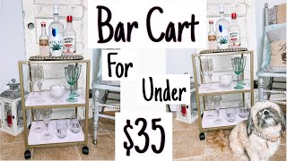 DECORATE WITH ME | BUDGET FRIENDLY BAR CART