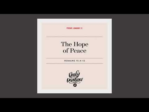 The Hope for Peace - Daily Devotion