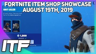 Fortnite Item Shop *NEW* SHOT CALLER SKIN AND PICKAXE! [August 19th, 2019] (Fortnite Battle Royale)