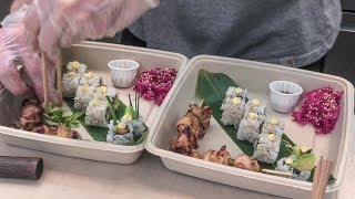 Beautiful Sushi and Japanese Skewers. London Street Food