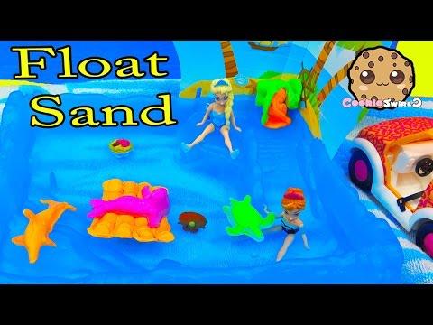 Kinetic Float Sand Island Party with Disney Frozen Queen Elsa & Season 4 Shopkins - Water Play Video - UCelMeixAOTs2OQAAi9wU8-g