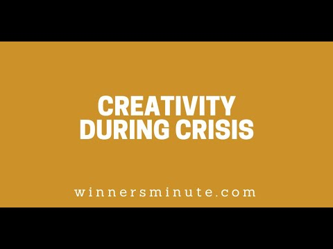 Creativity During Crisis // The Winner's Minute With Mac Hammond