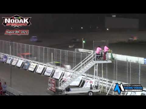 Nodak Speedway NLRA WISSOTA Late Model A-Main (8/8/21) - dirt track racing video image