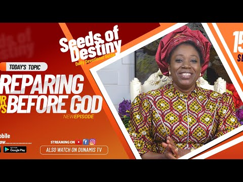 Dr Becky Paul-Enenche - SEEDS OF DESTINY - TUESDAY SEPTEMBER 15, 2020
