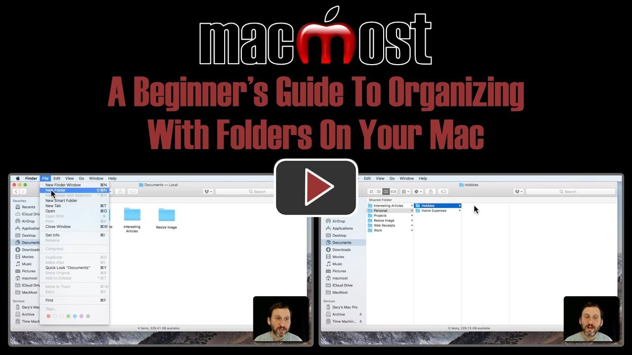 how to create new folder with mac