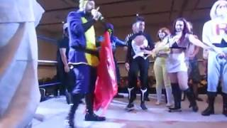 Batroc (John Beaver), FSCW thank Mike Broder, and Drake Maverick (Mario) helps with video footage