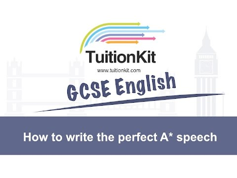 How to write the perfect A* speech