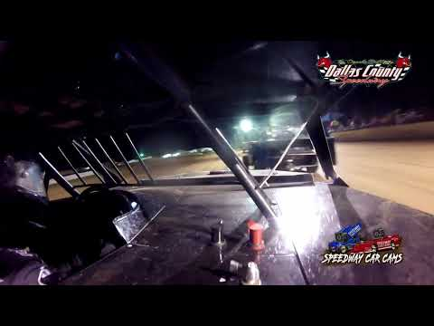 #13 Travis Dobbs - Midwest Mod - 7-9-2021 Dallas County Speedway - In Car Camera - dirt track racing video image