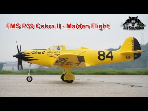 FMS P39 Cobra II Electric RC Racing Plane Maiden Flight - UCsFctXdFnbeoKpLefdEloEQ