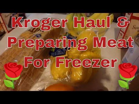 Kroger Haul/Preparing Meat For Freezer