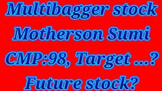 Motherson Sumi share live| penny stock| multibagger stock |