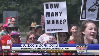 Gun control groups pushing for stronger gun regulation