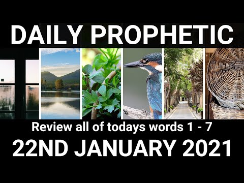 Daily Prophetic 22 January 2021 All Words