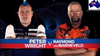 2019 Melbourne Darts Masters Quarter Final  Wright vs van Barneveld