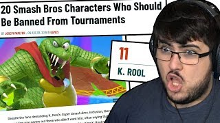 20 Smash Bros Characters Who Should Be Banned From Tournaments