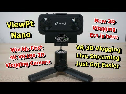 Kickstarter ViewPt VR180 Nano Worlds First 4K VR Live Streaming Camera - UCsFctXdFnbeoKpLefdEloEQ