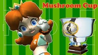 Super Mario Strikers - Team Daisy Vs Donkey Kong/Waluigi/Wario Mushroom Cup| JinnaGaming