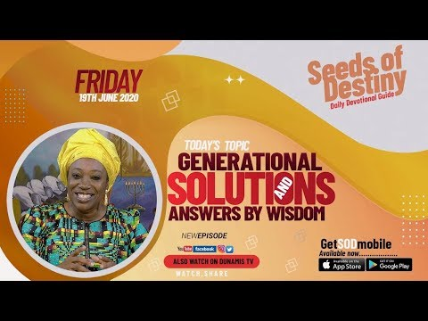 Dr Becky Paul-Enenche - SEEDS OF DESTINY  FRIDAY JUNE 19, 2020